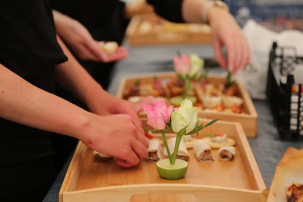 Outdoor catering food preparation